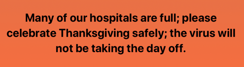CDC Recommendations for Thanksgiving Celebrations
